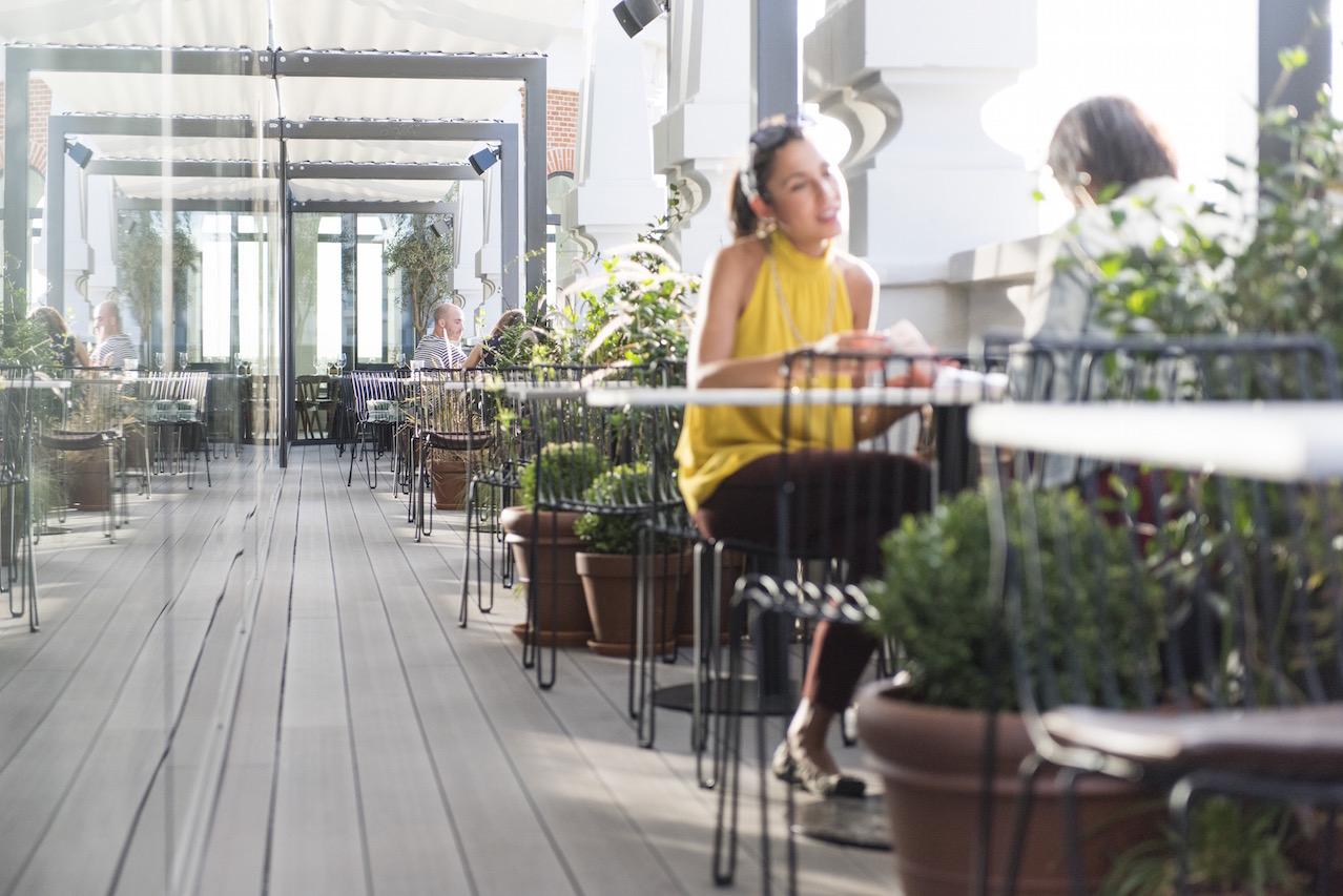 Nice to meet you restaurante en la azotea de dear hotel - Hotel el quijote madrid ...