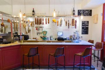 Marcelino, vinos y ultraporcinos. Taberna de embutidos de cerdo ibérico