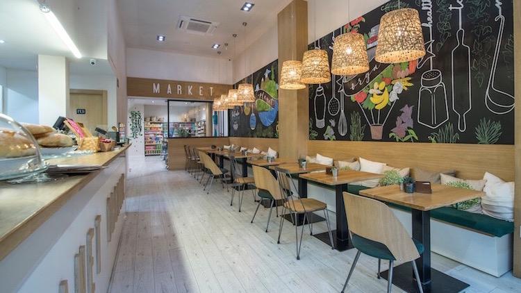 Planet Organic, restaurantes con tienda