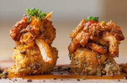 Callos Ratchi con morcilla asturiana, guiso en restaurante Cilindro