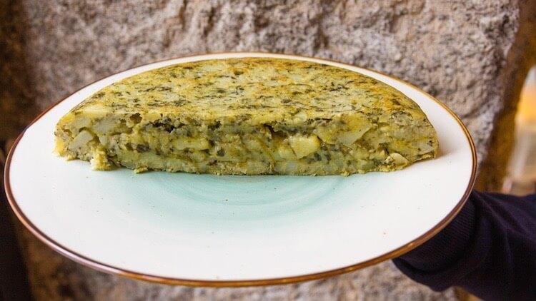 TORTILLAS SHF Tortilla de Patatas, espinacas y queso roquefort