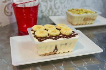 Tiramisú de plátano y crema de avellana de Medri